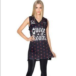 Disney x BlackMilk Queen of Hearts Jersey XS
